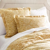 SAMMIE TILE DUVET COVER & SHAM - WHEAT