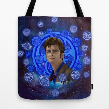 Doctor Who 10th generation Tote Bag by Three Second