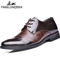 New 2014 Oxford Shoes For Men Dress Shoes Genuine Leather Office Wedding Shoes Autumn Winter Men Shoes Brown Black Size 38-44
