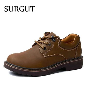 SURGUT Handmade Breathable Men's Oxford Shoes