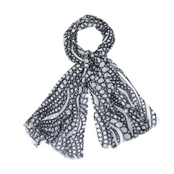 Bags and Accessories: Marimekko Tyrsky scarf in white, black | Marimekko Store