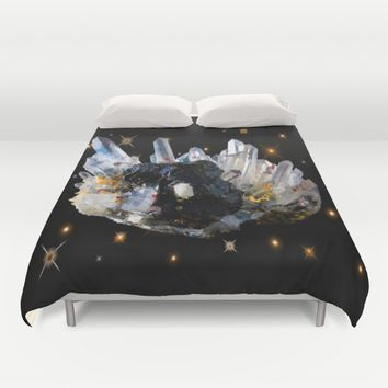 Star Aura Quartz Duvet Cover by Azima