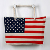 Oversized Stars and Stripes Tote Bag