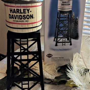 Department 56 Snow Village Harley Davidson Water Tower 54975
