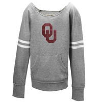 Oklahoma Sooners Youth Girls Brooke Fleece Sweatshirt – Gray - http://www.shareasale.com/m-pr.cfm?merchantID=7124&userID=1042934&productID=520989470 / Oklahoma Sooners