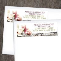 Magnolia Birch Light Floral Address Labels