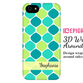 Personalized iPhone 6 case, aqua and lime iPhone 6 plus case, honeycomb iPhone 5c case, iPhone 4s phone cases, Phone 5s case, Galaxy S6 case