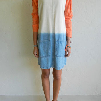 Dip Dye Denim Sleeveless Dress by rerunvintage on Etsy