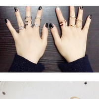 Fashion Deal Nice 1 Set Personality Leaf Knuckle Midi Mid Finger Tip Stacking Chain Rings = 5988124033