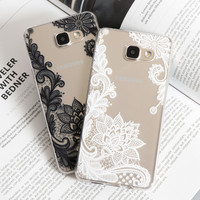 Lace Mandala Vintage Flower For Samsung Galaxy S3 S4 S5 S6 S7 Edge A3 A5 2016 2015 J3 J5 Case For iPhone 5 5S SE 5C 6 6S 7 Plus