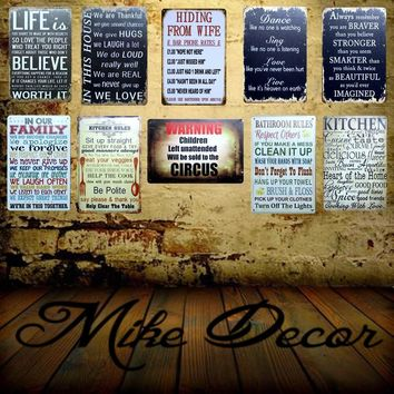 [ Mike86 ] Make THINGS Happen Quote Mural Painting Retro Shoe Store Vintage Posters Me