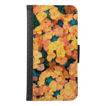 Siberian Wallflowers Wallet Phone Case For Samsung Galaxy S6