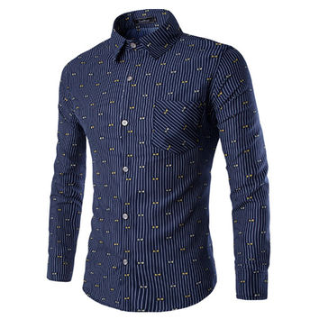 Designer Print Slim Fit Men's Fashion Shirt