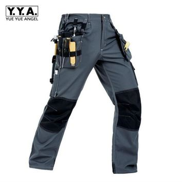 Top Quality Fashion Mens Cargo Pocket Pants overall cotton Leisure Trousers Security Working Pants For Man Casual Pants Size 2XL