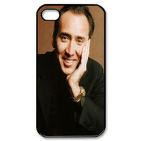 Custom Nicolas Cage Case for iPhone 4 4s Fits Back Cover Cases CC2680
