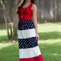 Let Freedom Ring Maxi Skirt | Bottoms | Kiki LaRue