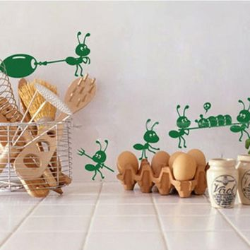 Cute Small Ants Stickers Children Cartoon Wall Decal Stickers Mirror Window Stickers Happy Gifts High Quality
