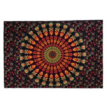Beach towel Indian Mandala Shawl Printed Wall Hanging Hippie Throw Bohemian Twin Bedspread MatDecor 210*148cm