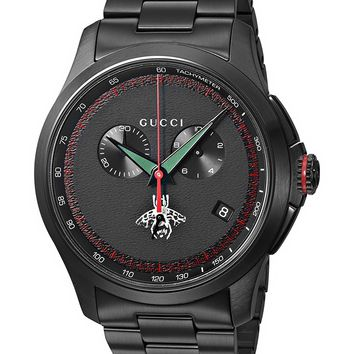 Gucci Swiss Quartz Metal and Alloy Dress Black Men's Watch(Model: YA126269)