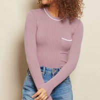 Front Pocked Bodycon Sweater
