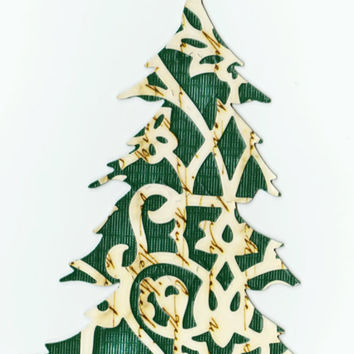 Decorative die cut Christmas tree