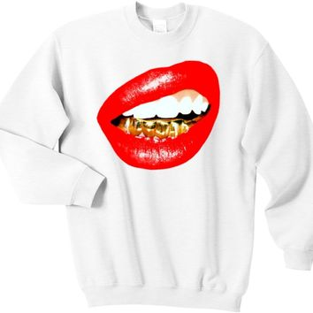 Trill Grill (Red Lips) sweatshirt *choose t-shirt color and size