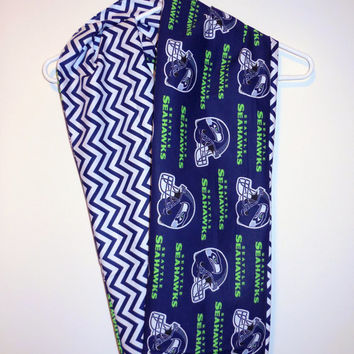 Seattle Seahawks Infinity Scarf  - You pick Chevron OR Polka Dots