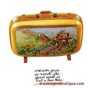 CHINA SUITCASE LIMOGES BOX