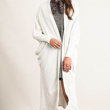 Alpine White Duster Cardigan