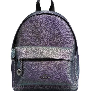COACHMini Campus Backpack in Hologram Leather