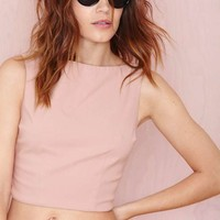 Nasty Gal High and Mighty Crop Top - Nude
