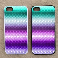 Cute Abstract Geometric Striped Ombre iPhone Case, iPhone 5 Case, iPhone 4S Case, iPhone 4 Case - SKU: 166