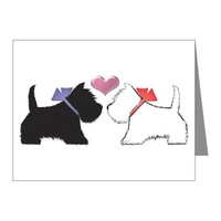 Westie Dog Art Note Cards (Pk Of 20) on CafePress.com