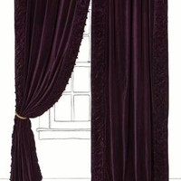 Parlor Curtain by Anthropologie Plum