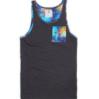 On The Byas Levin Cosmic Tank Top - Mens Tee - Black -