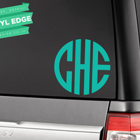 Monogram Car Decal - Car Window Decal - Monogram Decal - Circle Monogram - Car Monogram - Car Decal - Custom Monogram Decal [CWD0010]