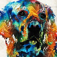 Colorful Dog Art - Heart And Soul - By Sharon Cummings by Sharon Cummings on Crated