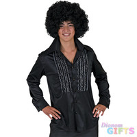 Men's Costume Shirt: Saturday Night, Black-Large