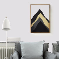 Modern Nordic Multi-layers of Mountain Canvas Oil Painting Posters Wall Art Wall Pictures for Living Room Home Decor No Frame