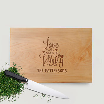 Wood Cutting Board Walnut or Maple - Housewarming Gift