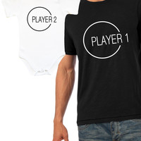Player 1 Player 2 father and son matching set