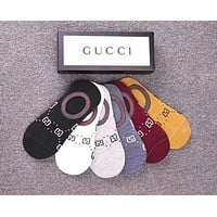 GUCCI Popular Women Men Comfortable Pure Cotton Breathable Sport Invisibility Socks - Boxed I-RQZ