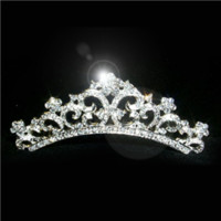 Crystal Pave Comb Tiara - 12436 by Medieval Collectibles