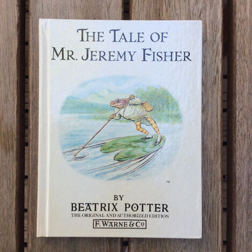 The Tale of Mr. Jeremy Fisher - Vintage Beatrix Potter Children's Book, 1987