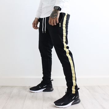 Gavin Stripe Pants (Black/Gold)