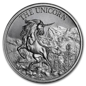 2 oz Silver High Relief Round - The Unicorn