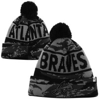 47 Brand Atlanta Braves Tigertooth Knit Beanie - Black
