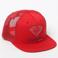 Diamond Supply Co OG Script Trucker Hat - Mens Backpack - Red - One