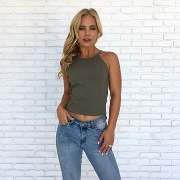 Move Along Tank Top in Olive