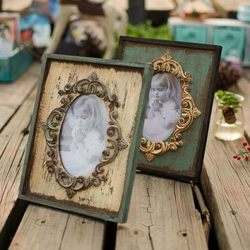 IKCKL9 Wooden Weathered Creative Decoration Gifts Home Vintage Photo Frame = 5893923009